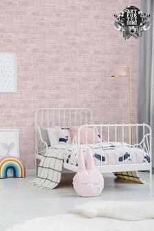 Art For The Home Pink Fresco Brick Wallpaper