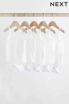 5 Pack Delicate Vest Bodysuits (0mths-3yrs)