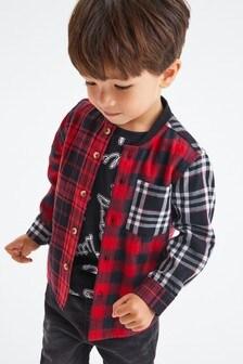 Check Shirt And T-Shirt Set (3mths-7yrs)