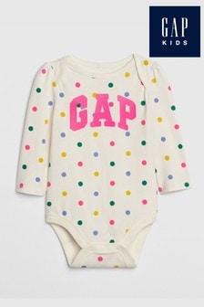 Gap White Logo Bodysuit