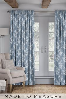 Middleton Sky Blue Made To Measure Curtains