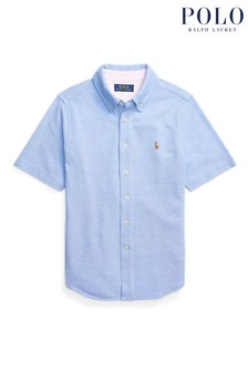 Ralph Lauren Blue Logo Short Sleeve Shirt