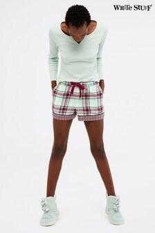 White Stuff Natural Midnight Check Shorts