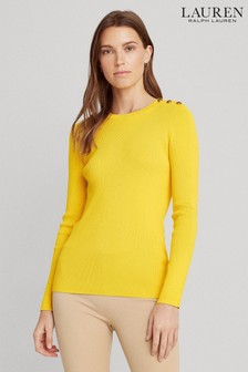 Lauren Ralph Lauren® Yellow Adonya Jumper