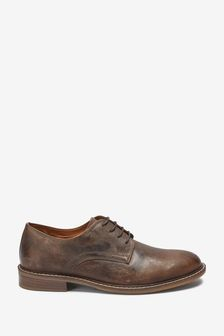 Waxy Leather Derby Shoes