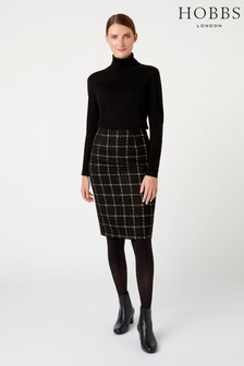 Hobbs Black Ashley Skirt
