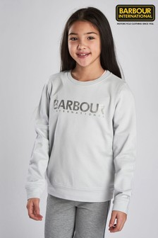 Barbour® International Ice White Fullcourt Crew Sweater