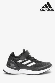 adidas Run Black RapidaRun Elite Junior Velcro Trainers