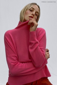 French Connection Cashmere Blend High Neck Jumper