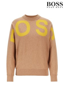 BOSS Brown Walci Logo Jumper