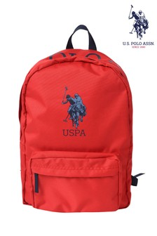 U.S. Polo Assn. Red Colourblock Backpack
