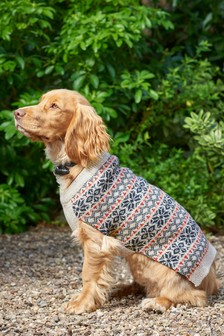 Fairisle Knit Dog Jumper