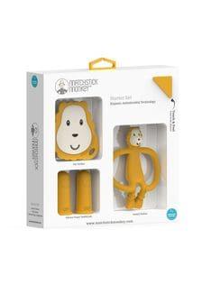 Matchstick Monkey Yellow Teething Starter Set - Ludo Lion