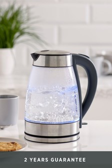 Chrome/Glass Kettle