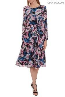 Gina Bacconi Pink Ivah Chiffon Dress