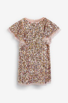 Floaty Sleeve Sequin Dress (3-16yrs)