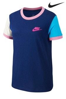 Nike Navy Ringer Futura T-Shirt