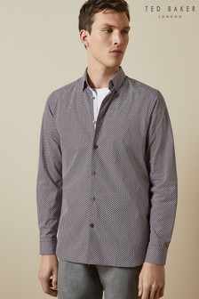 Ted Baker Hareev Geo Print Cotton Shirt
