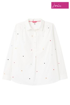 Joules White Bayley Pop Over Shirt
