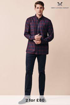 Crew Clothing Company Blue Blackwatch Slim Shirt
