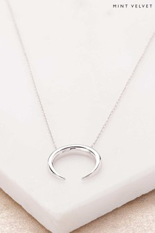 Mint Velvet Silver Plated Horn Necklace