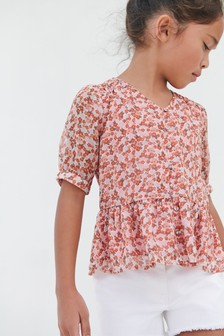 Button Through Blouse (3-16yrs)