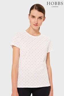 Hobbs White Pixie Spot T-Shirt