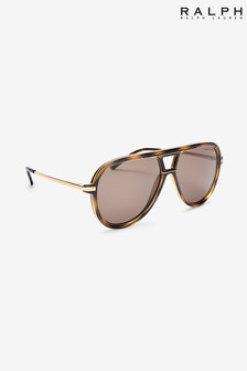 Ralph Lauren Tortoiseshell Effect And Gold Sunglasses