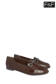 F&F Tan Hardware Loafers