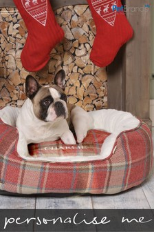 Personalised Small Medium Christmas Dog Bed by Pet Brands