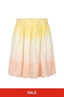 Bonpoint Girls Pink Cotton Skirt