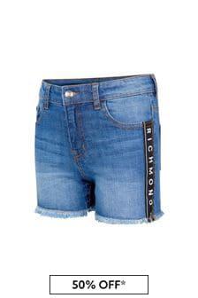 John Richmond Girls Blue Cotton Shorts