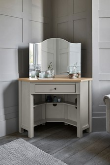 Malvern Dove Grey Corner Dressing Table
