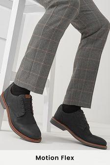 Leather Motion Flex Derby Shoes