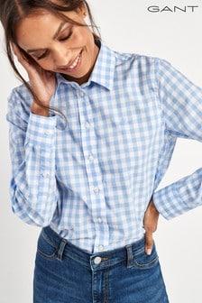 GANT Broadcloth Blue Gingham Shirt