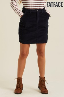 FatFace Blue Cara Cord Skirt