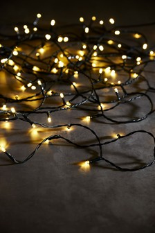 200 Warm White LED Green Cable Lights