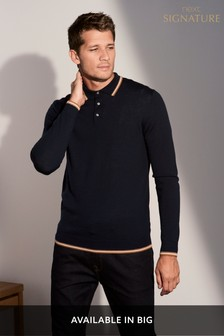 Tipped Merino Polo