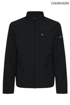 Calvin Klein Black Crinkle Nylon Lightweight Jacket