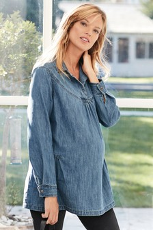 Maternity Denim Tunic