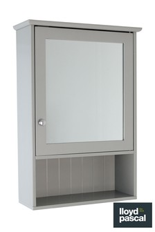 Lloyd Pascal Grey Painted Mirror Cabinet