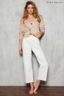 Mint Velvet White Monroe Wide Leg Jeans