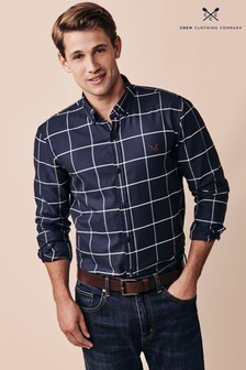 Crew Clothing Company Blue Leighton Slim Shirt