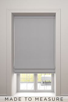 Imogen Silver Grey Made To Measure Roman Blind