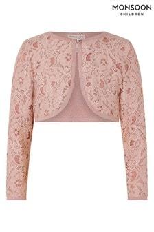 Monsoon Eliona Pink Lace Cardigan