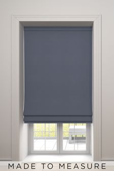 Imogen Denim Blue Made To Measure Roman Blind