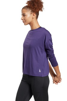 Reebok Work Out Long Sleeve Sweat Top