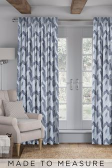 Marcia Sky Blue Made To Measure Curtains