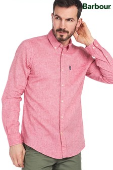 Barbour® Red Linen Mix Tailored Shirt