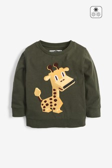 Giraffe Zip Lightweight Crew Top (3mths-7yrs)